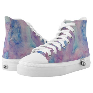 Chantant Violettes Hi Top Printed Shoes