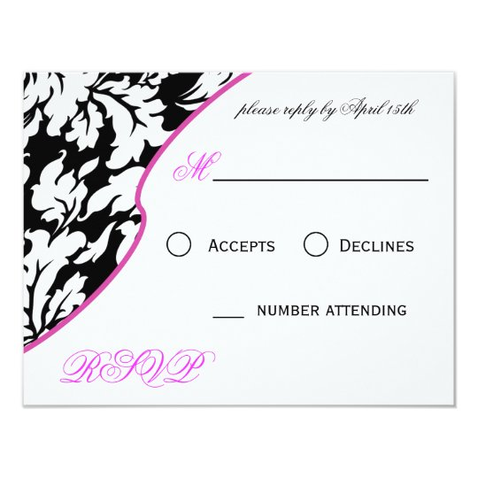 Chantel RSVP Card - Pink