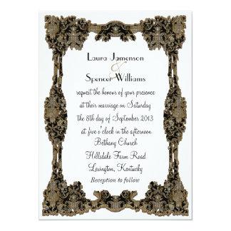 Chanteleah White Formal 14 Cm X 19 Cm Invitation Card