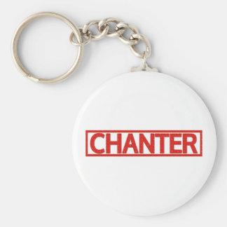 Chanter Stamp Basic Round Button Key Ring