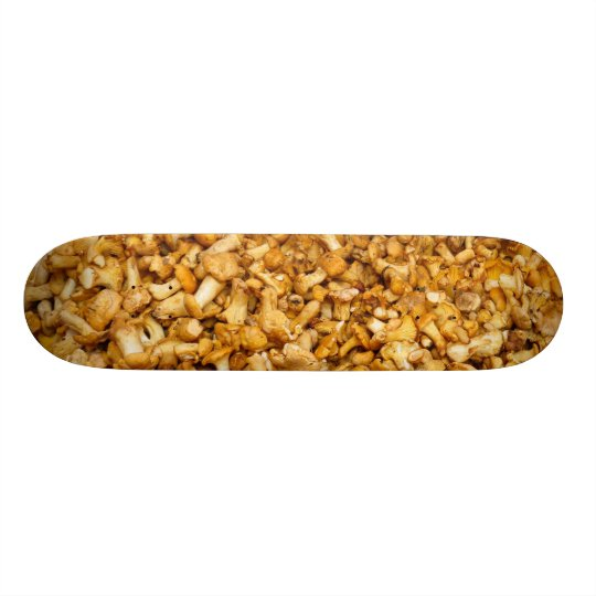 Chanterelles mushrooms 20 cm skateboard deck