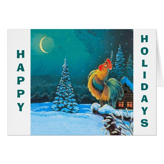 chanticleer, Happy Holidays Card