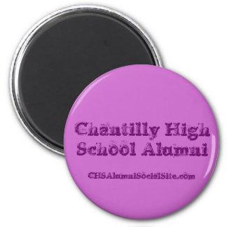 Chantilly High School Alumni, CHSAlumniSocialSi... 6 Cm Round Magnet
