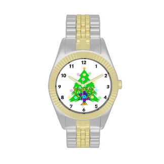 Chanukah and Christmas Together Wristwatch