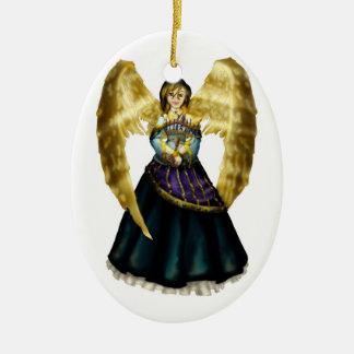 Chanukah Angel Christmas Ornament