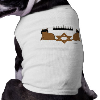Chanukah Cats Pet Sweater Sleeveless Dog Shirt