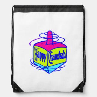 Chanukah Dreidel Drawstring Backpacks