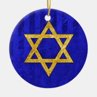 Chanukah Hanukkah חֲנֻכָּה Round Ceramic Decoration