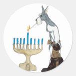 chanukah ( Hanukkah ) card Round Sticker