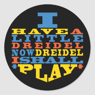"Chanukah/Hanukkah ""Dreidel Play..."" Stickers Round"
