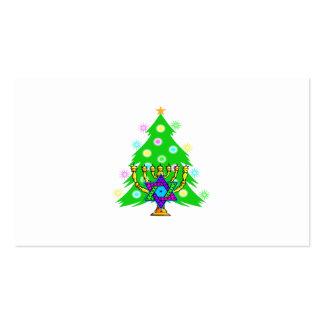 Chanukkah and Christmas Business Card Templates
