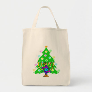 Chanukkah and Christmas Canvas Bags