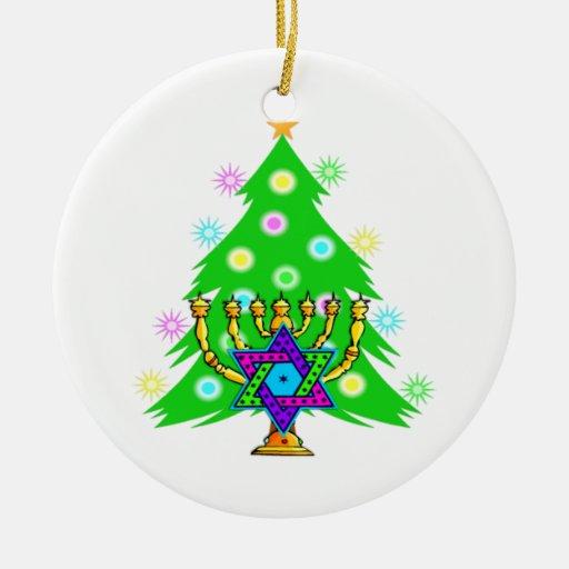 Chanukkah and Christmas Christmas Tree Ornament