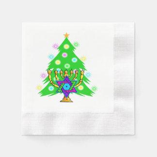 Chanukkah and Christmas Disposable Napkins