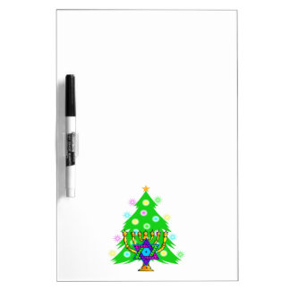 Chanukkah and Christmas Dry Erase Board