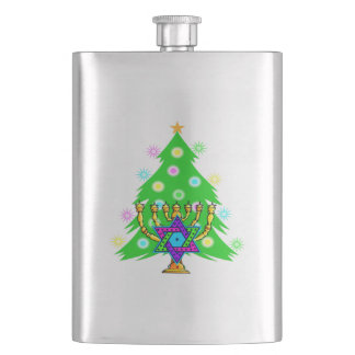 Chanukkah and Christmas Flasks