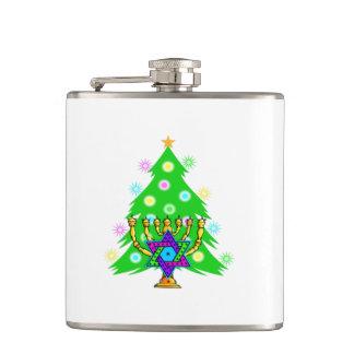 Chanukkah and Christmas Hip Flask