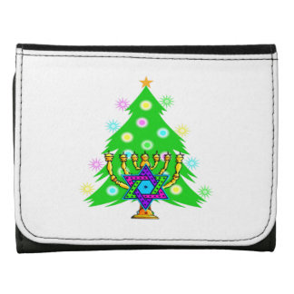 Chanukkah and Christmas Leather Wallet