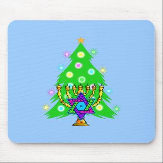 Chanukkah and Christmas Mouse Pad