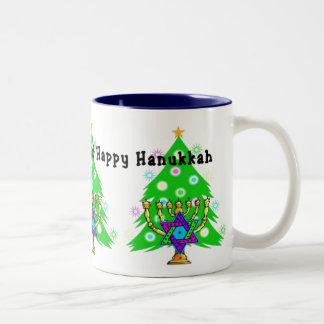 Chanukkah and Christmas Mugs