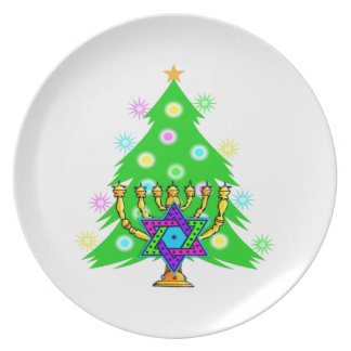 Chanukkah and Christmas Party Plate