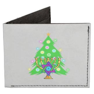 Chanukkah and Christmas Tyvek® Billfold Wallet