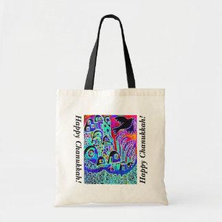 Chanukkah Gift/Tote Bag: City Of Israel Ebony Budget Tote Bag