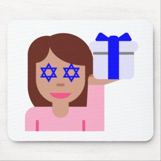 chanukkah hair flip emoji mouse pad