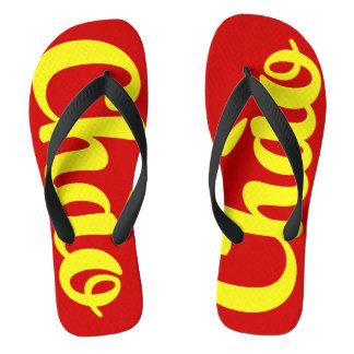 Chào / Hello ~ Vietnam / Vietnamese / Tiếng Việt Flip Flops