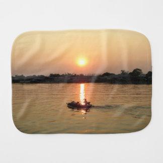 Chao Phraya River Sunset ... Ayutthaya, Thailand Burp Cloth