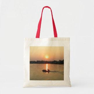 Chao Phraya River Sunset ... Ayutthaya, Thailand Tote Bag