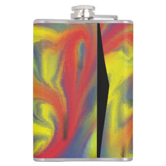 Chaos colorful pattern hip flask