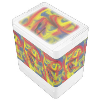 Chaos colorful pattern igloo cool box