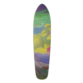 Chaos colorful pattern custom skate board