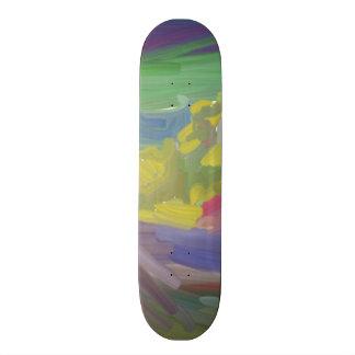 Chaos colorful pattern skateboard deck