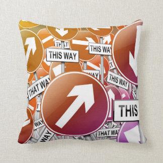 Chaos concept. cushion