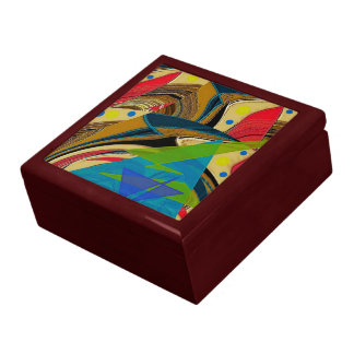 """Chaos in Color"" Large Tiled Keepsake Box"