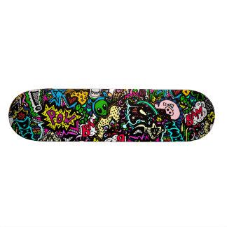 Chaos in colour board skateboard decks