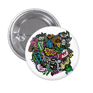 Chaos in colour button badge