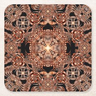 Chaos Mine Mandala Square Paper Coaster