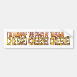 Chaos Of Blue Cheese Bumper Sticker