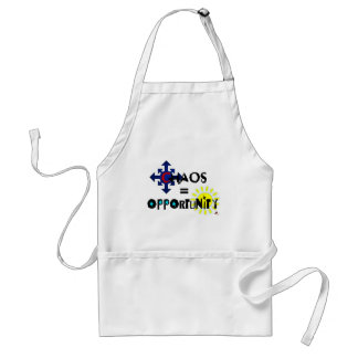 Chaos = Opportunity Aprons