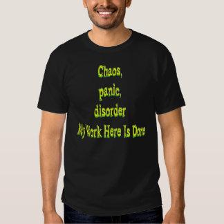 Chaos Panic Disorder Tee Shirts