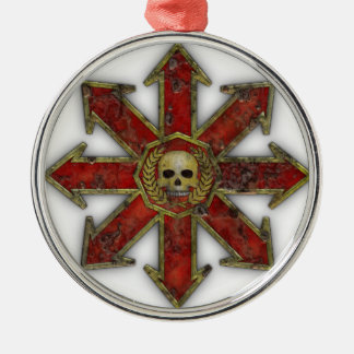 Chaos – Red Silver-Colored Round Decoration