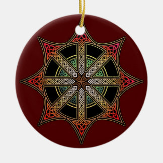 Chaos Star Pendant/Ornament Round Ceramic Decoration