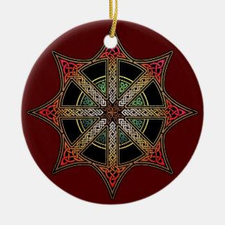Chaos Star Pendant/Ornament Round Ceramic Decoration
