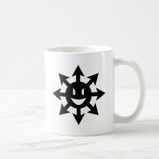 Chaos star smiling basic white mug