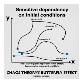 Chaos Theory s Butterfly Effect Sensitivity Posters
