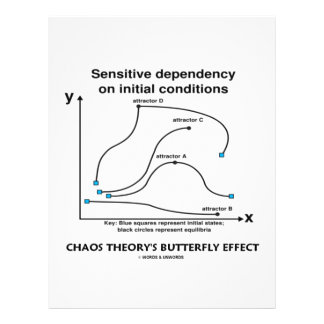 Chaos Theory's Butterfly Effect 21.5 Cm X 28 Cm Flyer