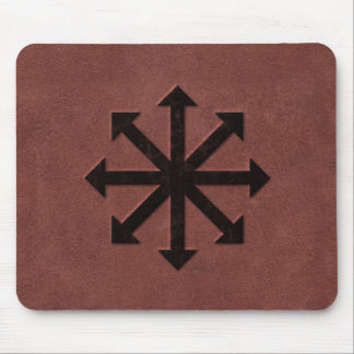 Chaosphere - Occult Magick Symbol on Red Leather Mouse Pad
